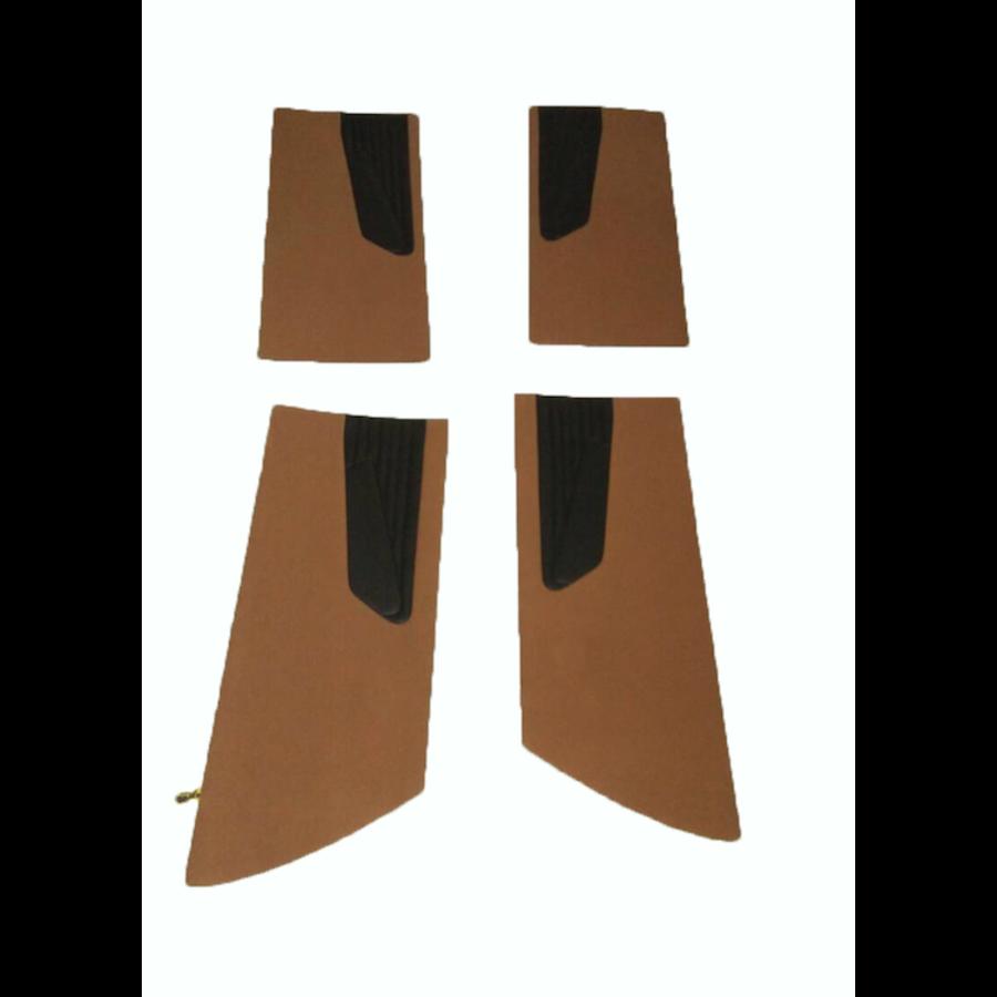 Door card set ocher cloth (flat foruperpecial) Citroën ID/DS-6