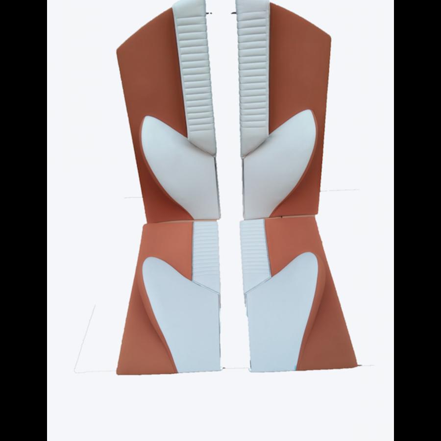 1 Satz Türverkleidungen [4] Stoff-bezogen ockerfarbig Citroën ID/DS-3