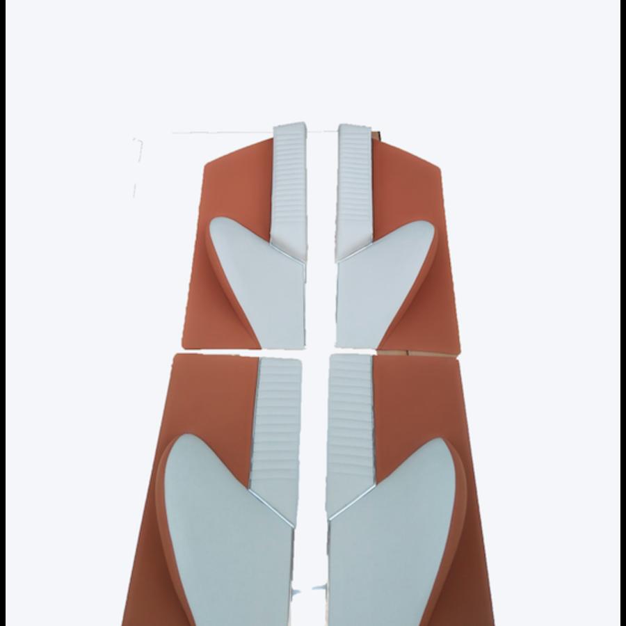 1 Satz Türverkleidungen [4] Stoff-bezogen ockerfarbig Citroën ID/DS-7