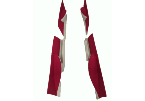 Jogo de painéis para portas revestimento em tecido vermelho escarlate [4] (réplica do painel Pallas) Citroën ID/DS