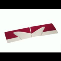 thumb-Set deurschotten fel rood stof 60-67 Citroën ID/DS-5