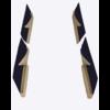 ID/DS Jeu de panneaux de porte garniture en étoffe bleu [4](réplique du panneau PA) Citroën ID/DS