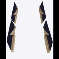 thumb-Jeu de panneaux de porte garniture en étoffe bleu [4](réplique du panneau PA) Citroën ID/DS-1