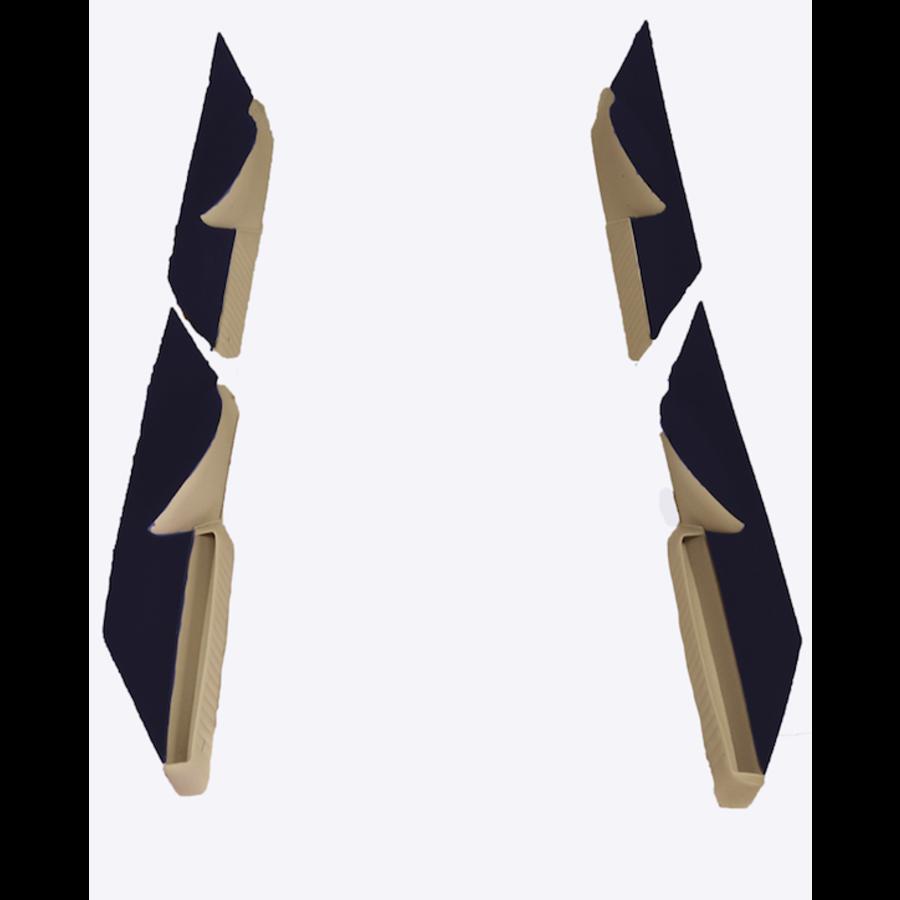 Jeu de panneaux de porte garniture en étoffe bleu [4](réplique du panneau PA) Citroën ID/DS-1