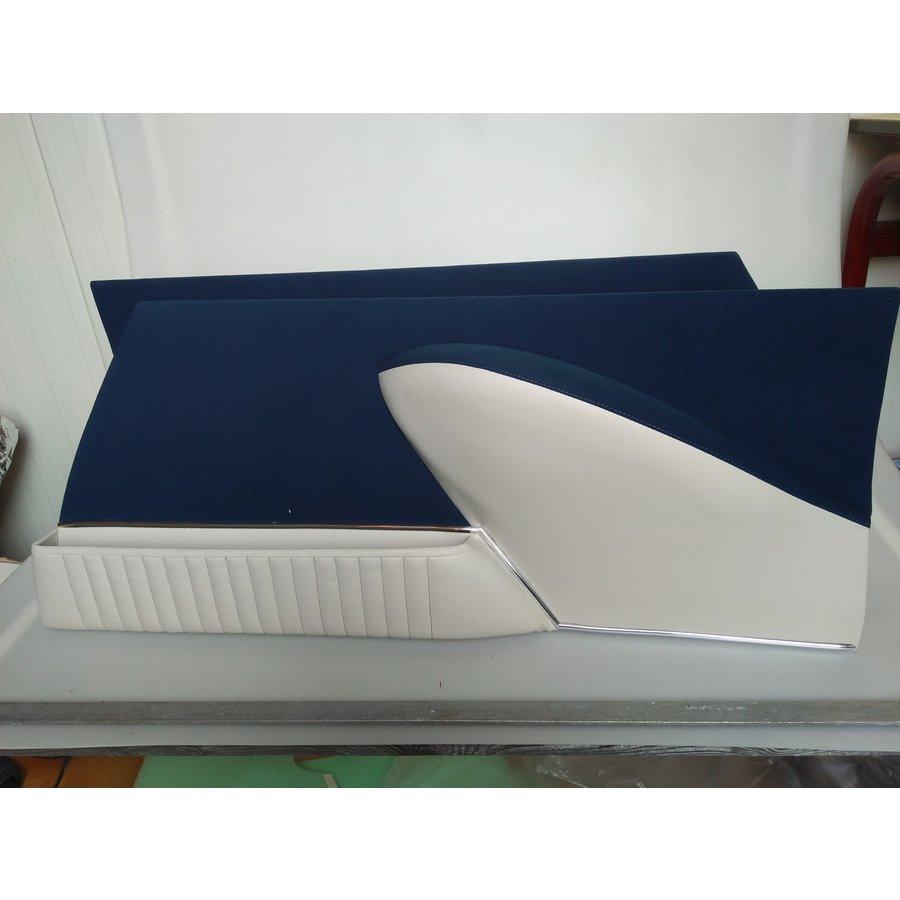 Jeu de panneaux de porte garniture en étoffe bleu [4](réplique du panneau PA) Citroën ID/DS-2