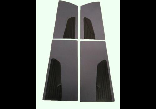 ID/DS Jeu de panneaux de portes (4 pièces) en étoffe gris D SUPER D SPECIAL 70-75 Citroën ID/DS