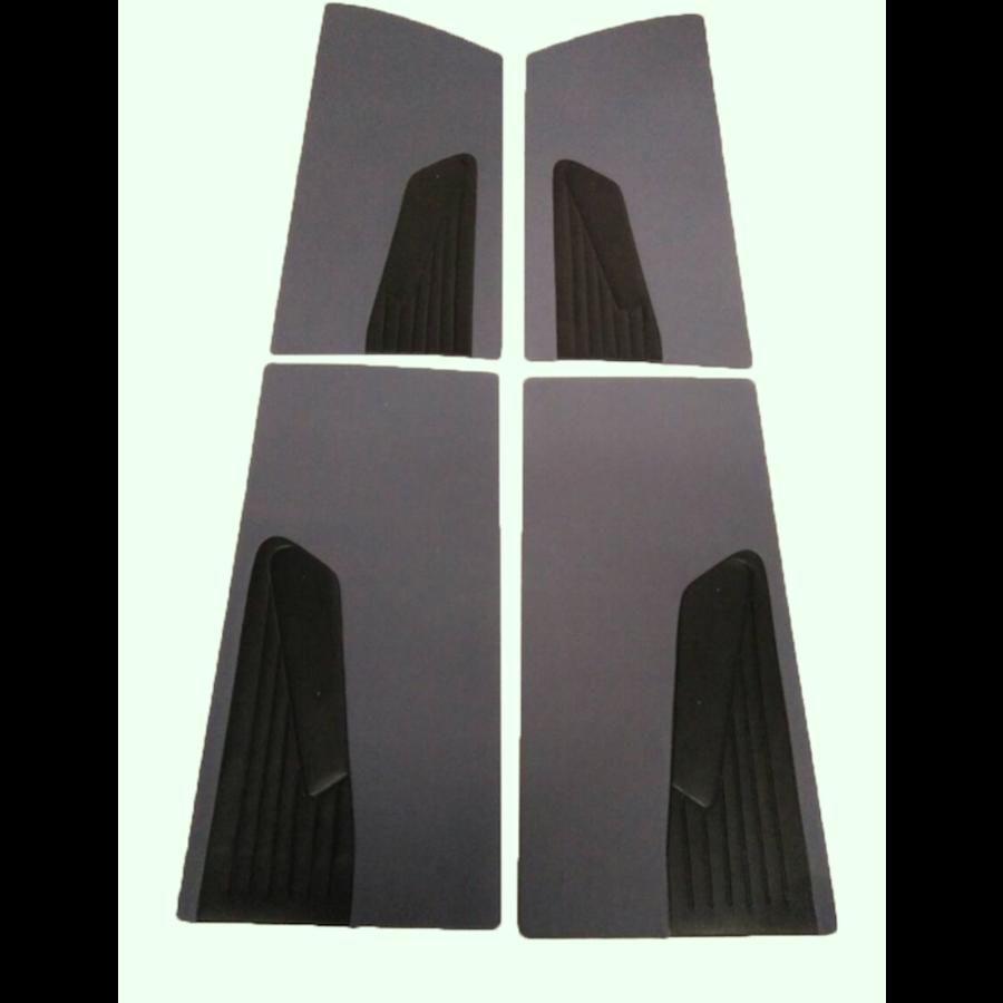 Türverkleidungssatz (4 Teile) grau Stoff D Super D Spezial 70-75 Citroën ID/DS-1