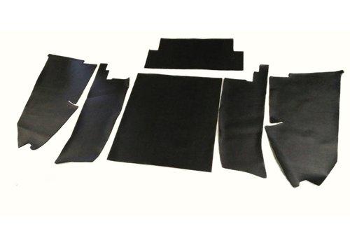 ID/DS Jeu [6] complet de garniture de coffre en pvc noir profilé AVec insonorisant Citroën ID/DS