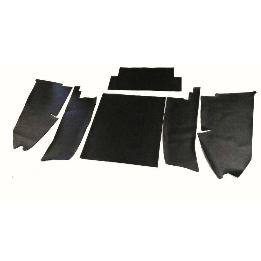 Jeu [6] complet de garniture de coffre en pvc noir profilé AVec insonorisant Citroën ID/DS-1