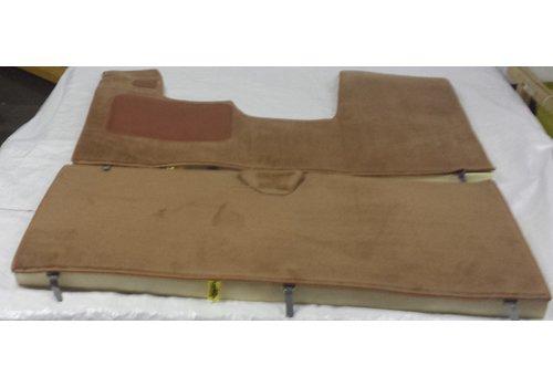 Jogo completo de tapete cor marrom para Pallas (mecânico hidráulico com injeção) com espuma alveolada Citroën ID/DS