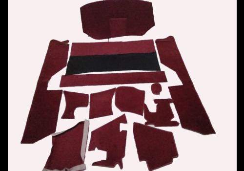 ID/DS Jeu complet de tapis rouge pour PA (méchanique/hydrolique/injection) AV avec mousse alveolée Citroën ID/DS