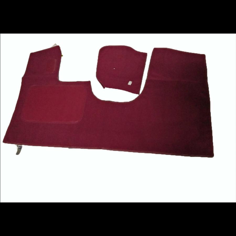 Bodenmatte vorne rotOriginalreplikat(Pallas) mit Bezug für Pedalboden ohne Schaum Citroën ID/DS-1