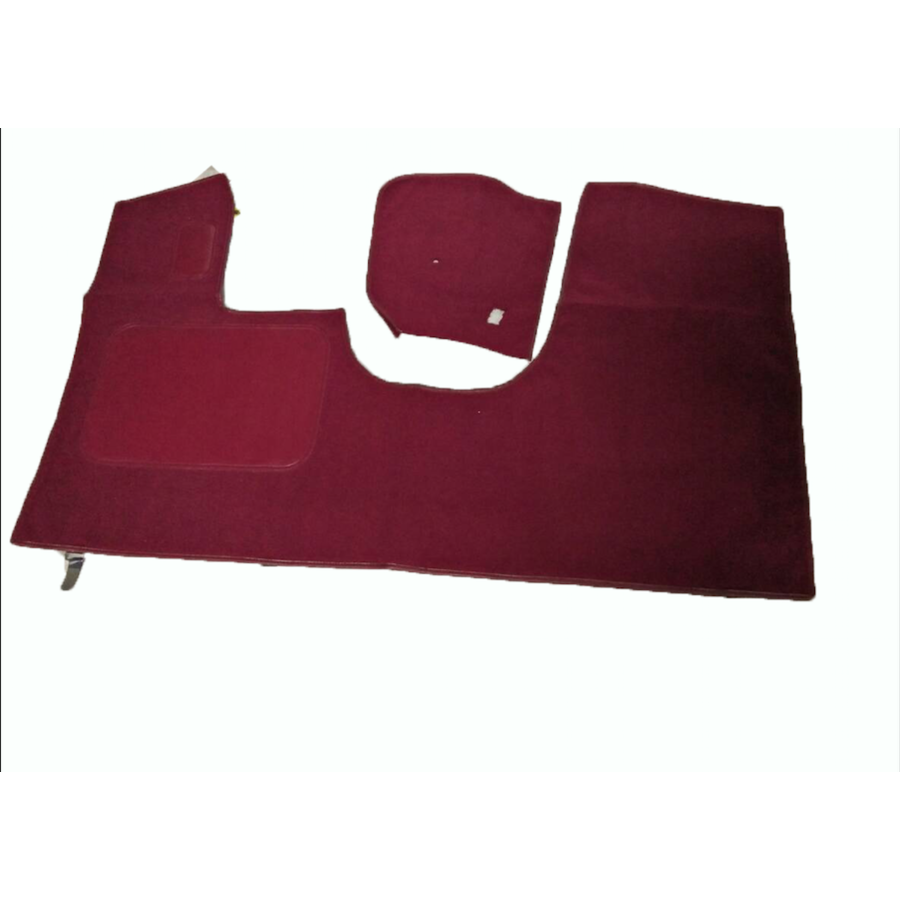 Front carpet red without foam Citroën ID/DS-1