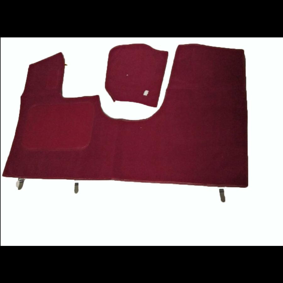Bodenmatte vorne rotOriginalreplikat(Pallas) mit Bezug für Pedalboden ohne Schaum Citroën ID/DS-3
