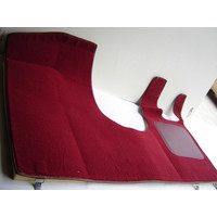 thumb-Front carpet red RHD with foam Citroën ID/DS-1