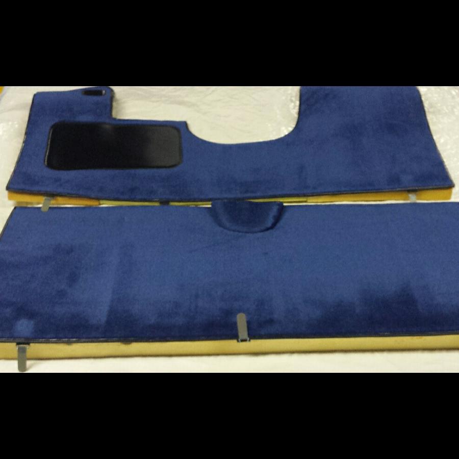 Vollständiger Bodenbezug Satz blau (mechanisch/hydraulisch/mit Einspritzung) mit Schaum Citroën ID/DS-1