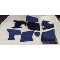 thumb-Vollständiger Bodenbezug Satz blau (mechanisch/hydraulisch/mit Einspritzung) mit Schaum Citroën ID/DS-4