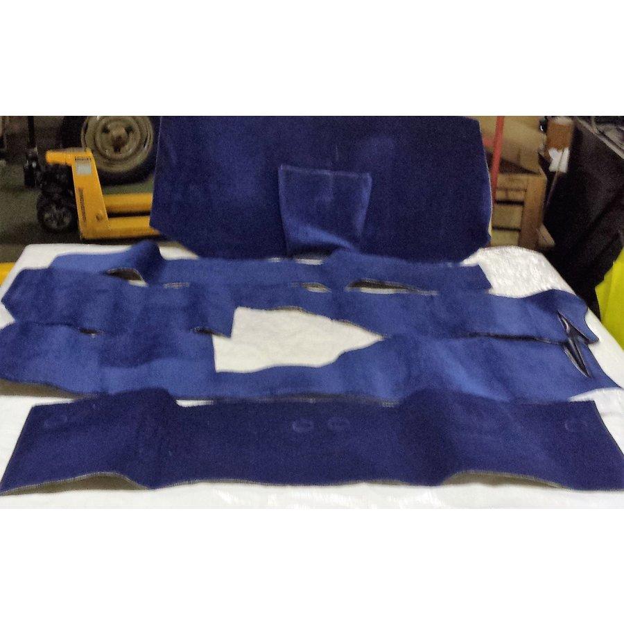 Vollständiger Bodenbezug Satz blau (mechanisch/hydraulisch/mit Einspritzung) mit Schaum Citroën ID/DS-5