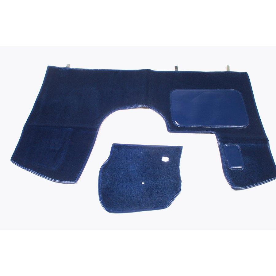 Bodenmatte vorne blau Originalreplikat (Pallas) mit Bezug für Pedalboden ohne Schaum Citroën ID/DS-1