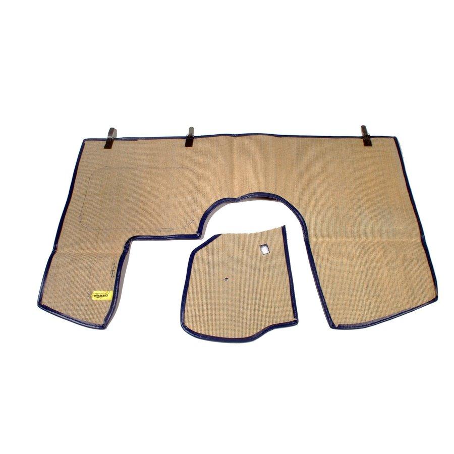 Bodenmatte vorne blau Originalreplikat (Pallas) mit Bezug für Pedalboden ohne Schaum Citroën ID/DS-3