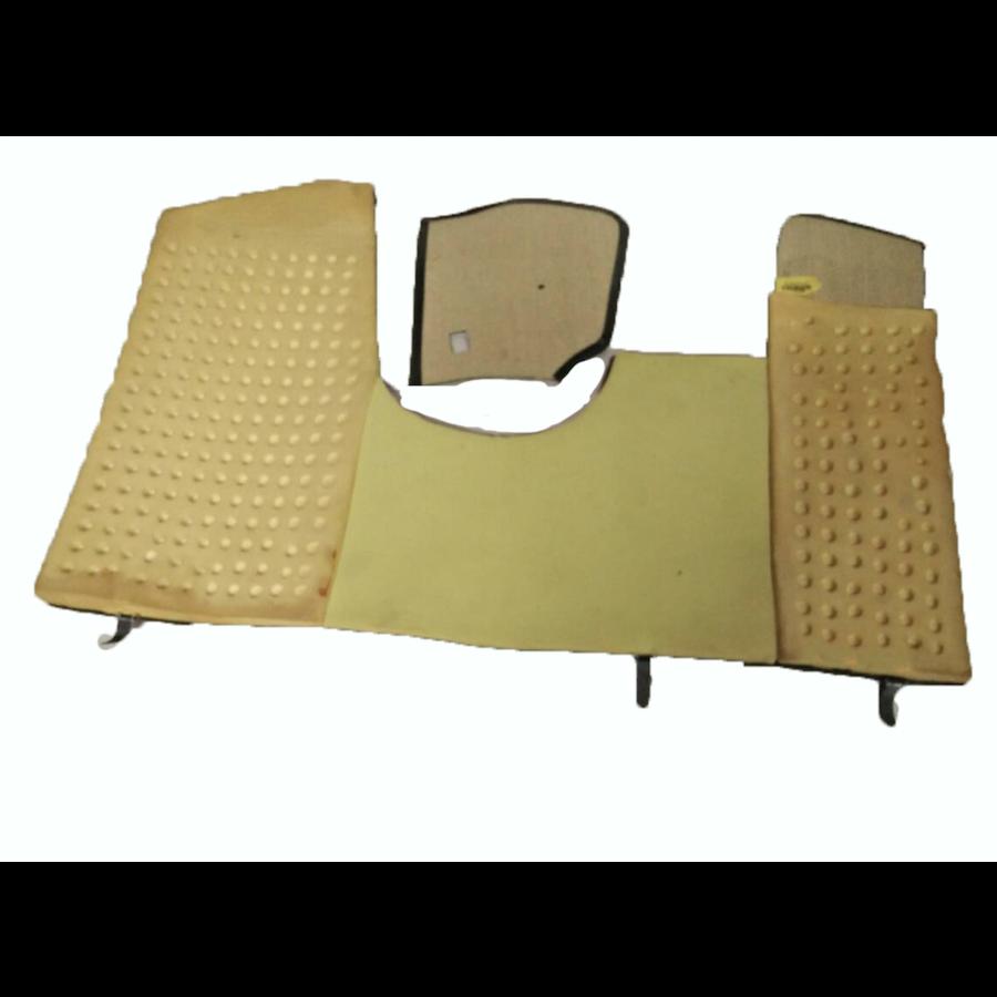 Bodenmatte vorne grün Originalreplikat (Pallas) mit Bezug für Pedalboden mit Schaum Citroën ID/DS-3