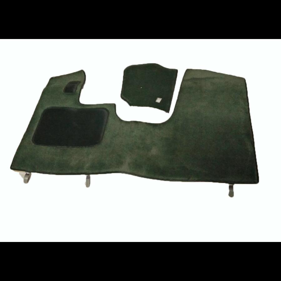 Bodenmatte vorne grün Originalreplikat (Pallas) mit Bezug für Pedalboden mit Schaum Citroën ID/DS-6