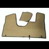 ID/DS Bodenmatte vorne grün Originalreplikat (Pallas) mit Bezug für Pedalboden ohne Schaum Citroën ID/DS