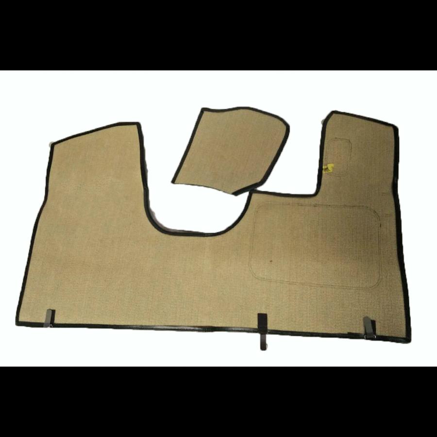 Bodenmatte vorne grün Originalreplikat (Pallas) mit Bezug für Pedalboden ohne Schaum Citroën ID/DS-1