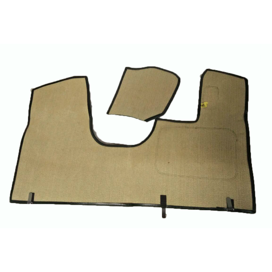 Bodenmatte vorne grün Originalreplikat (Pallas) mit Bezug für Pedalboden ohne Schaum Citroën ID/DS-2