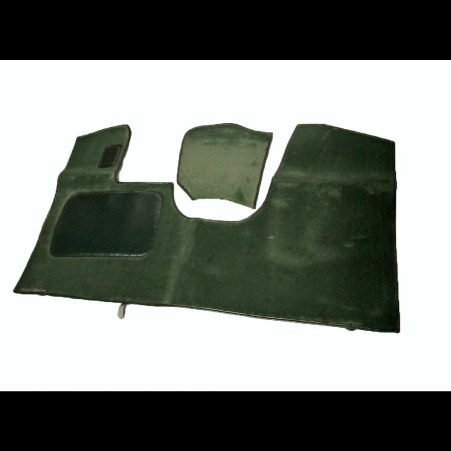 Bodenmatte vorne grün Originalreplikat (Pallas) mit Bezug für Pedalboden ohne Schaum Citroën ID/DS-3