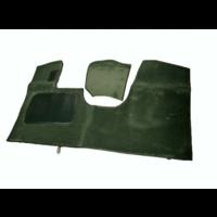 thumb-Bodenmatte vorne grün Originalreplikat (Pallas) mit Bezug für Pedalboden ohne Schaum Citroën ID/DS-4