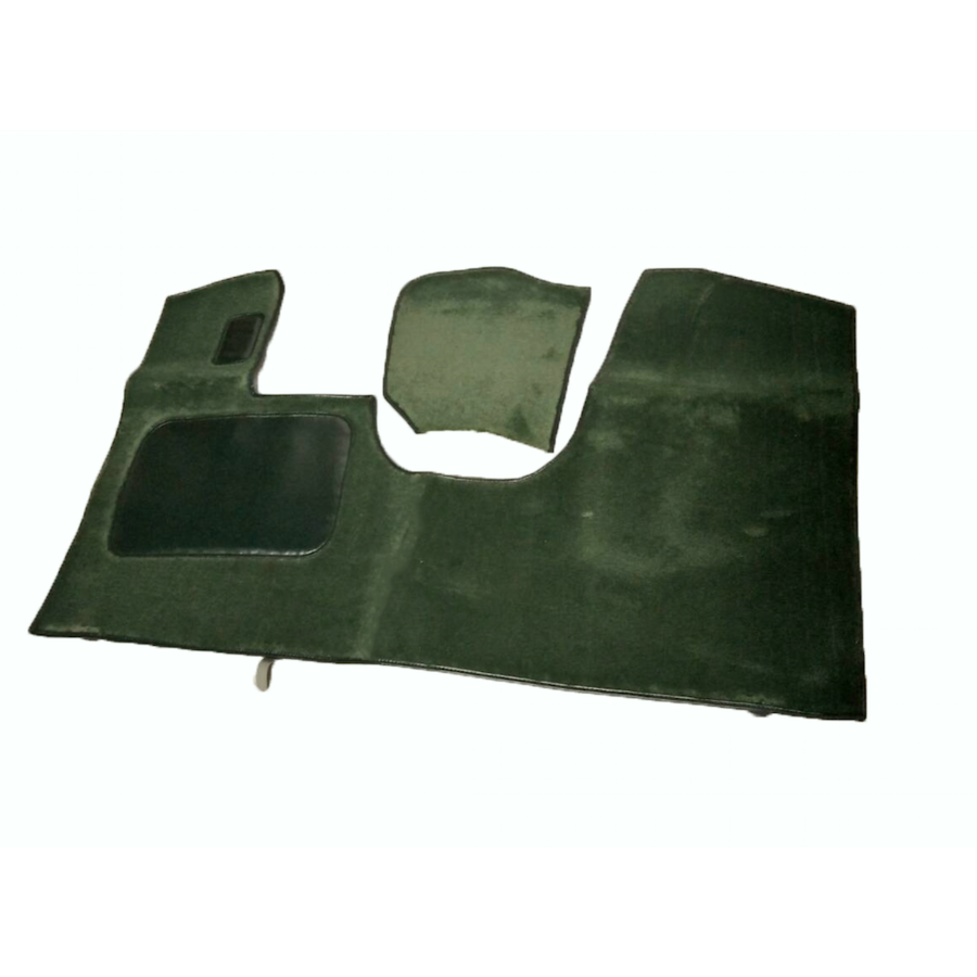 Bodenmatte vorne grün Originalreplikat (Pallas) mit Bezug für Pedalboden ohne Schaum Citroën ID/DS-4