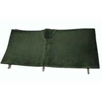 thumb-Bodenmatte hinten grün Originalreplikat (Pallas) ohne Schaum Citroën ID/DS-4