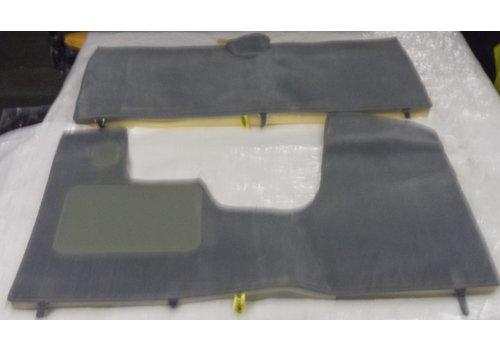 ID/DS Jeu complet de tapis gris pour PA (méchanique/hydrolique/injection) AV avec mousse alveolée Citroën ID/DS