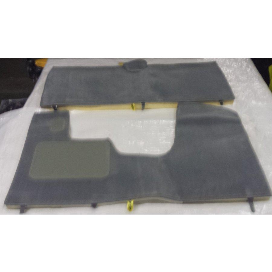 Jeu complet de tapis gris pour PA (méchanique/hydrolique/injection) AV avec mousse alveolée Citroën ID/DS-1