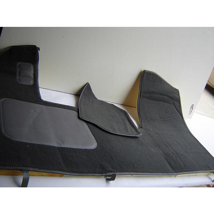Bodenmatte vorne grau Originalreplikat (Pallas) mit Bezug für Pedalboden mit Schaum Citroën ID/DS-1