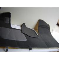 thumb-Bodenmatte vorne grau Originalreplikat (Pallas) mit Bezug für Pedalboden mit Schaum Citroën ID/DS-2