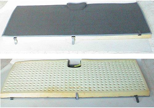 Bodenmatte hinten grau Originalreplikat (Pallas) mit Schaum Citroën ID/DS