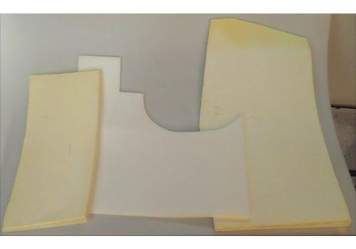 Conjunto de peças em espuma alveolada para uso sob tapete dianteiro com espuma alveolada Citroën ID/DS