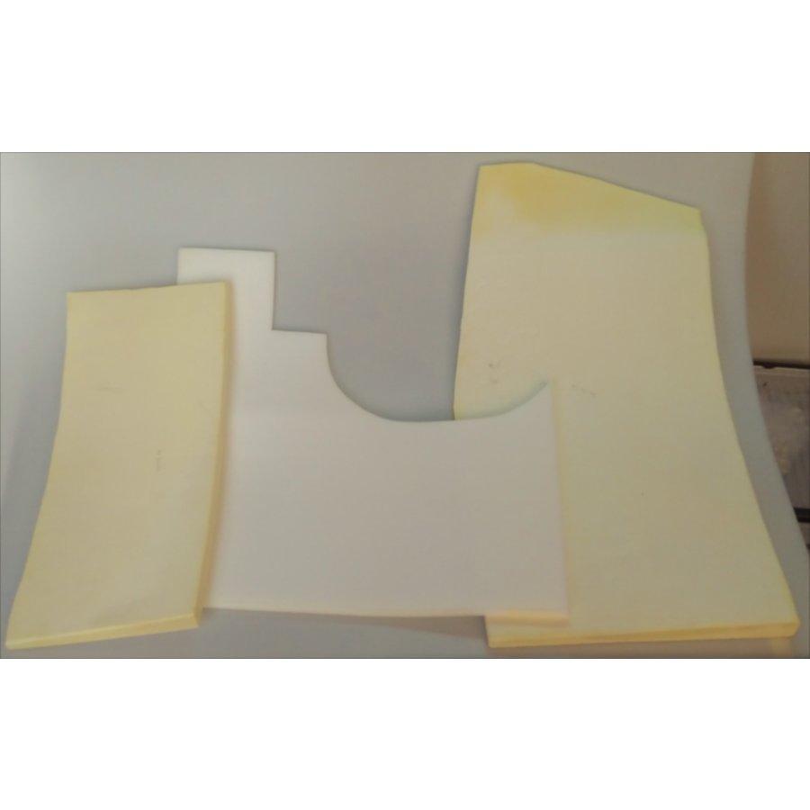 Set of foam pieces for under front mat Citroën ID/DS-2