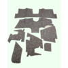 ID/DS Noise reduction pad set used under the Pallas carpet set (7 pieces) Citroën ID/DS