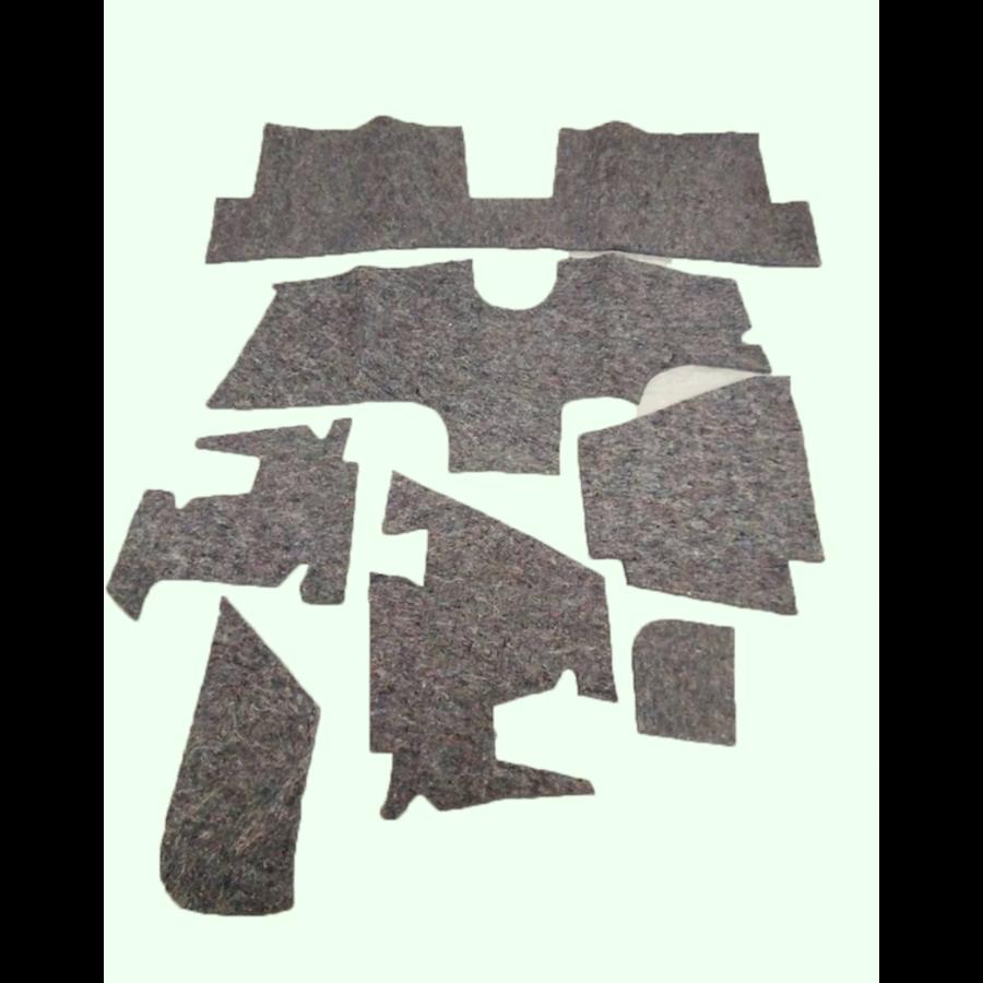 Noise reduction pad set used under the Pallas carpet set (7 pieces) Citroën ID/DS-1