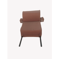 thumb-Head rest with brown leather trimming narrow model 2 pieces Citroën ID/DS-1