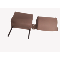 thumb-Head rest with brown leather trimming narrow model 2 pieces Citroën ID/DS-3