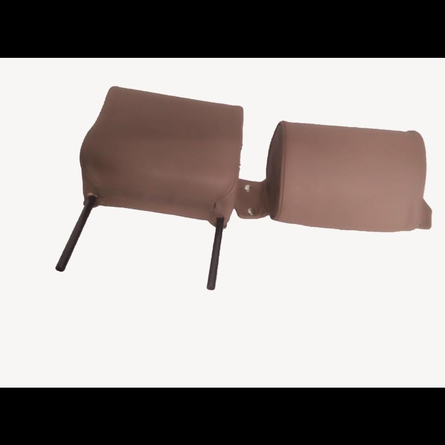 Repose-tête (2 pièces modèle étroit) garniture cuir marron Citroën ID/DS-3