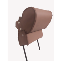 thumb-Head rest with brown leather trimming narrow model 2 pieces Citroën ID/DS-4