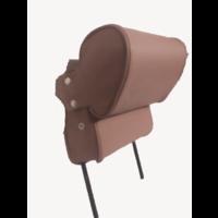 thumb-Repose-tête (2 pièces modèle étroit) garniture cuir marron Citroën ID/DS-4