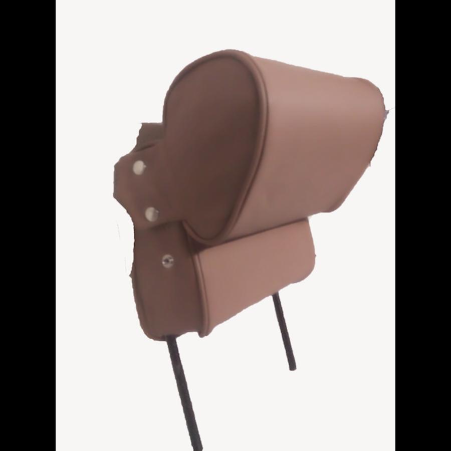 Repose-tête (2 pièces modèle étroit) garniture cuir marron Citroën ID/DS-4