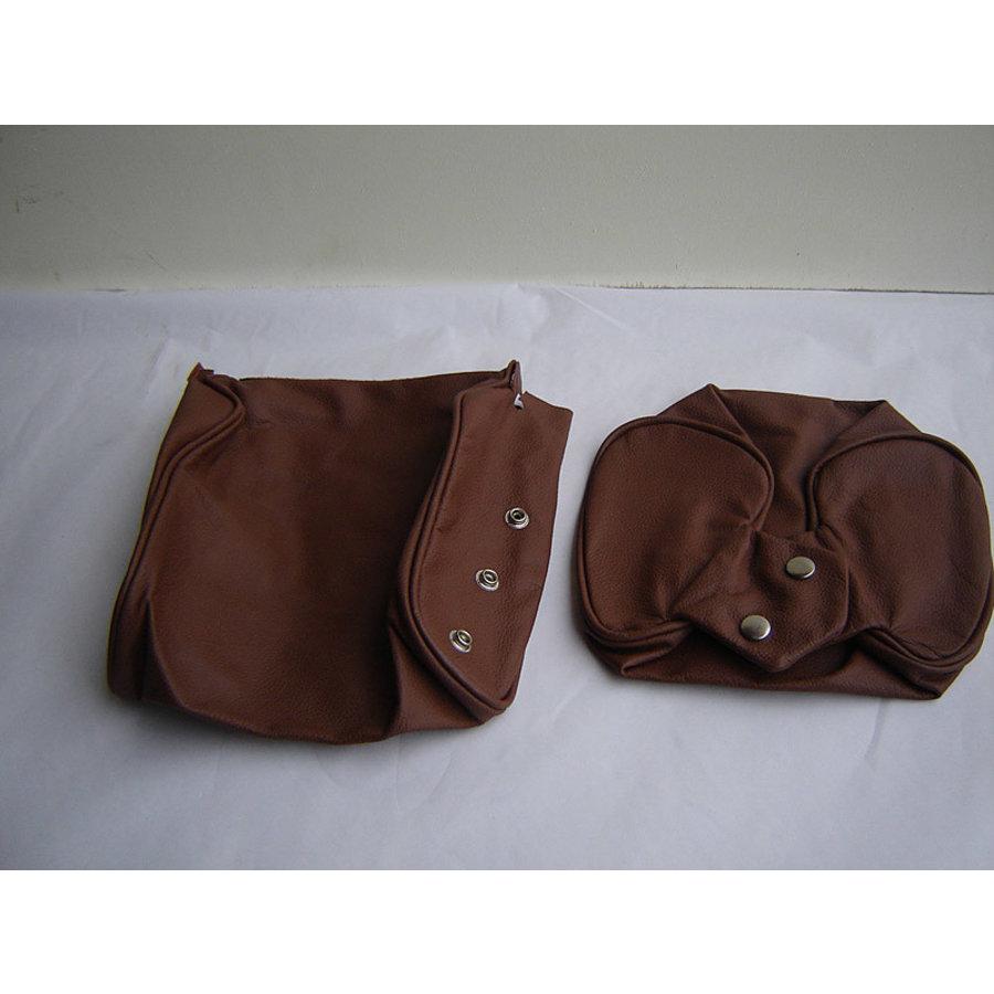 Garniture pour repose-tête (2 pièces modèle étroit) garniture cuir marron Citroën ID/DS-2