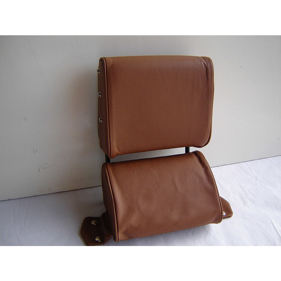 Head rest with light brown leather trimming narrow model 2 pieces Citroën ID/DS-1